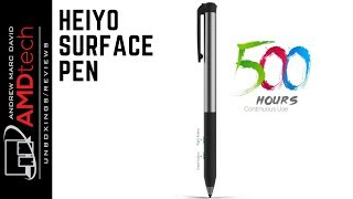 The Rechargeable Surface Pen:  500 hrs battery & 4096 Pressure Sensitivity