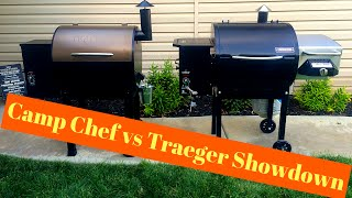 Camp Chef SmokePro DLX pellet grill vs Traeger Lil Tex elite 22