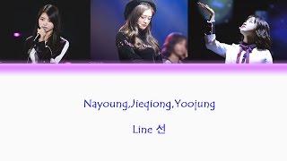 [Hangul/English] IOI Nayoung,Jieqiong, Yoojung - Line 선 Ly...