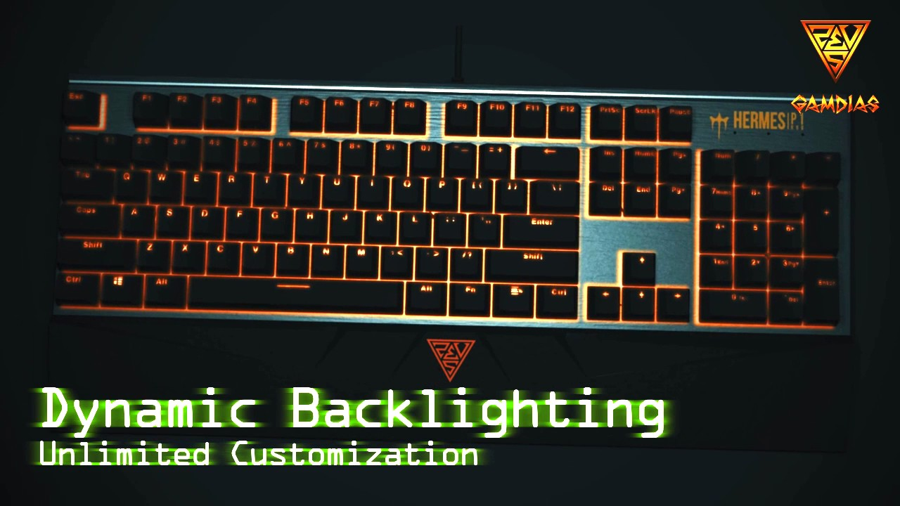 15e0951fc61 GAMDIAS HERMES P1 RGB Gaming Keyboard - YouTube