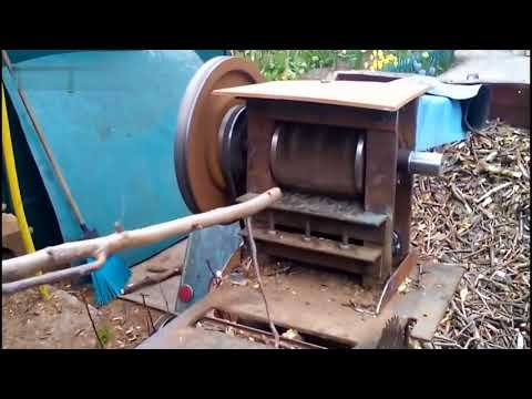 Best Amazing Homemade Wood Chipper Machine Extreme Fast Wood Processor Tree Shredder Easy 2018
