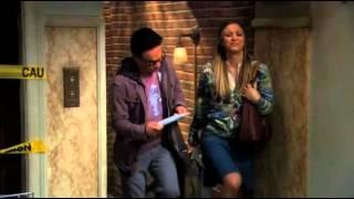 The Big Bang Theory. Penny and Leonard, Star Wars on Blu-ray.
