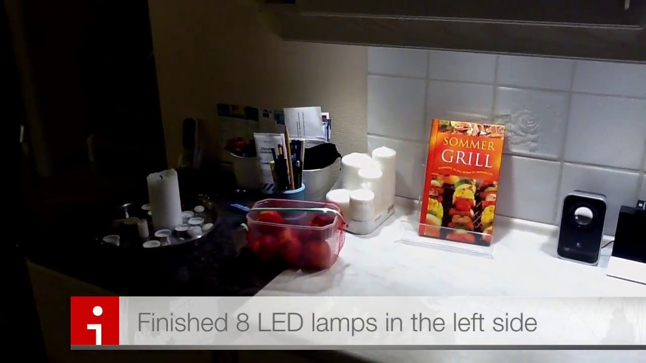 ikea led in kitchen youtube. Black Bedroom Furniture Sets. Home Design Ideas