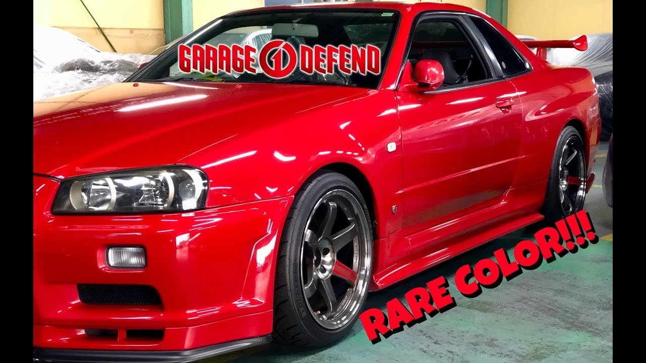 STUNNING Active Red R34 GTR!