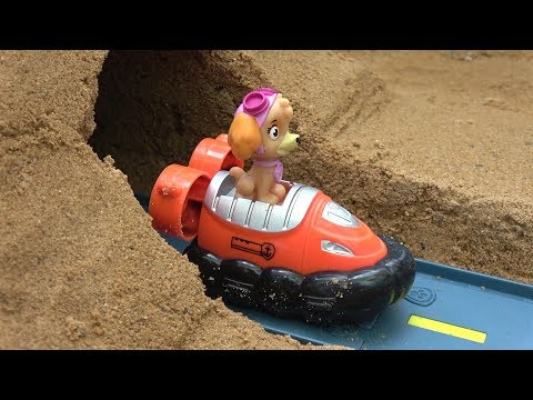 Paw Patrol Toys Mountain Vehicle Through Sand Fun Videos with Learn Colors