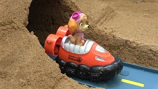 Paw Patrol Toys Mountain Vehicle Through Sand Fun Videos with Learn Colors thumbnail