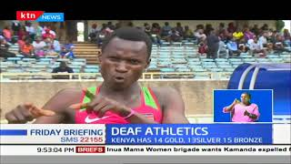 Jacob Kibet led Kenya\'s 1-2-3 sweep in deaf athletics