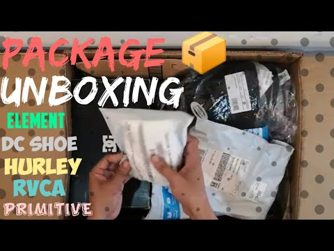 UNBOXING NEW ARRIVAL STOCKS HURLEY RVCA PRIMITIVE DC SHOES AND SHIRTS