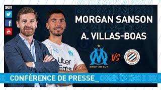 OM - Montpellier La conférence de Morgan Sanson & d'André Villas-Boas