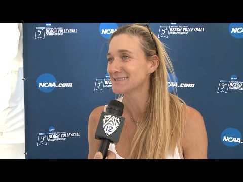 2017 NCAA Beach Volleyball Championships: 4-time Olympic medalist Kerri Walsh Jennings on...