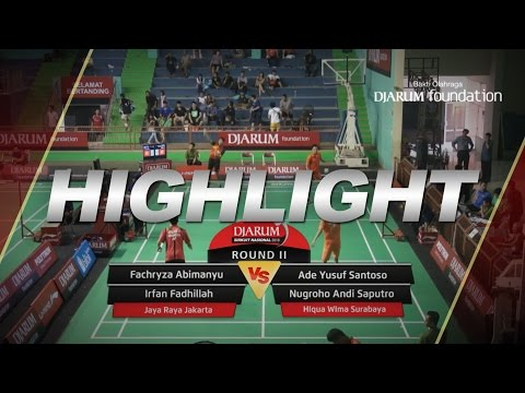 Ade Yusuf/Nugroho Andi (Hiqua Wima Surabaya) VS Fachryza Abimanyu/Irfan Fadhillah (Jaya Raya)