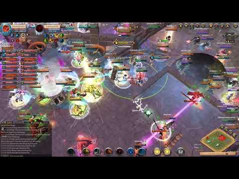 Blue Army vs Russian Guild - Castle ZvZ - Albion Online