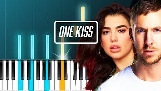 "Calvin Harris - ""One Kiss"" ft Dua Lipa Piano Tutorial - Chords - How To Play - Cover"