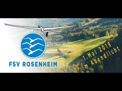 Flugsportverein Rosenheim Segelfliegen aus Leidenschaft - Abendlicht über Brannenburg am 1.Mai 2019