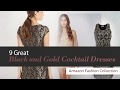 9 Great Black and Gold Cocktail Dresses Amazon Fashion Collection