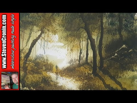How To Paint a Simple Woodland Scene in Watercolour