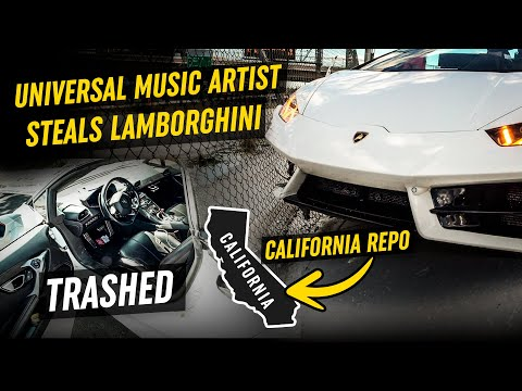 Universal Music Artist STEALS Lamborghini *TRASHED*