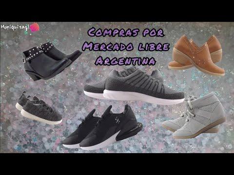 Compras de calzados hechas por Mercado libre Argentina
