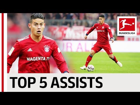 James Rodriguez - Top 5 Assists
