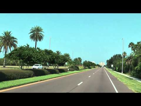 Driving the Memorial Causeway Bridge to Clearwater Beach - Florida (HD-Quality)