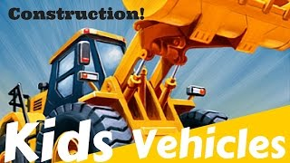 Kids CONSTRUCTION Vehicles - Compactor, Road Roller, Bulldozer, Haul Truck, Dump Truck, More!