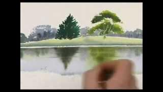 Diễn họa mặt nước bằng màu nước