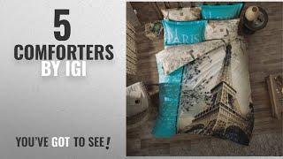 Top 10 Igi Comforters [2018]: Paris Home 100% Cotton 7-pieces Comforter Set Full Size Eiffel Tower