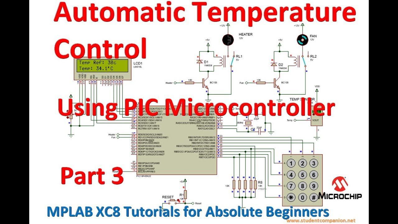 Automatic Temperature Control System using PIC Microcontroller - XC8