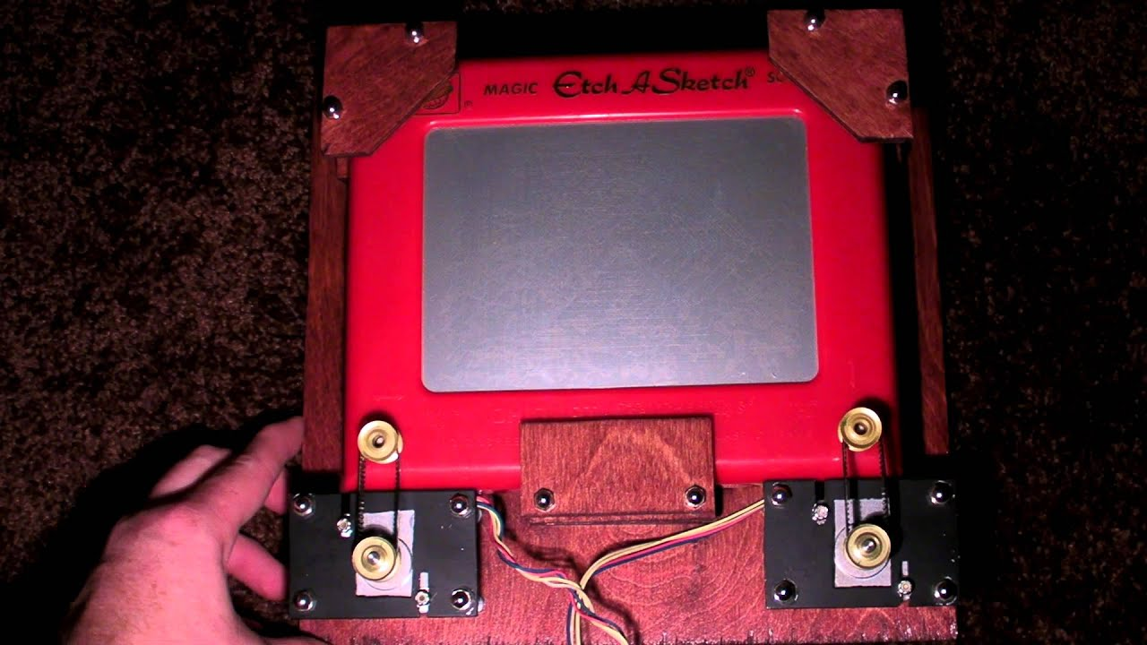 Arduino controlled etch a sketch youtube
