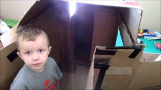 How To Build Awesome Kids Playhouse Cardboard Box