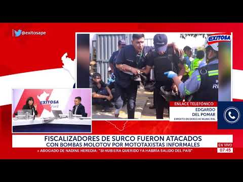 Fiscalizadores de Surco fueron atacados con bombas molotov por mototaxistas informales
