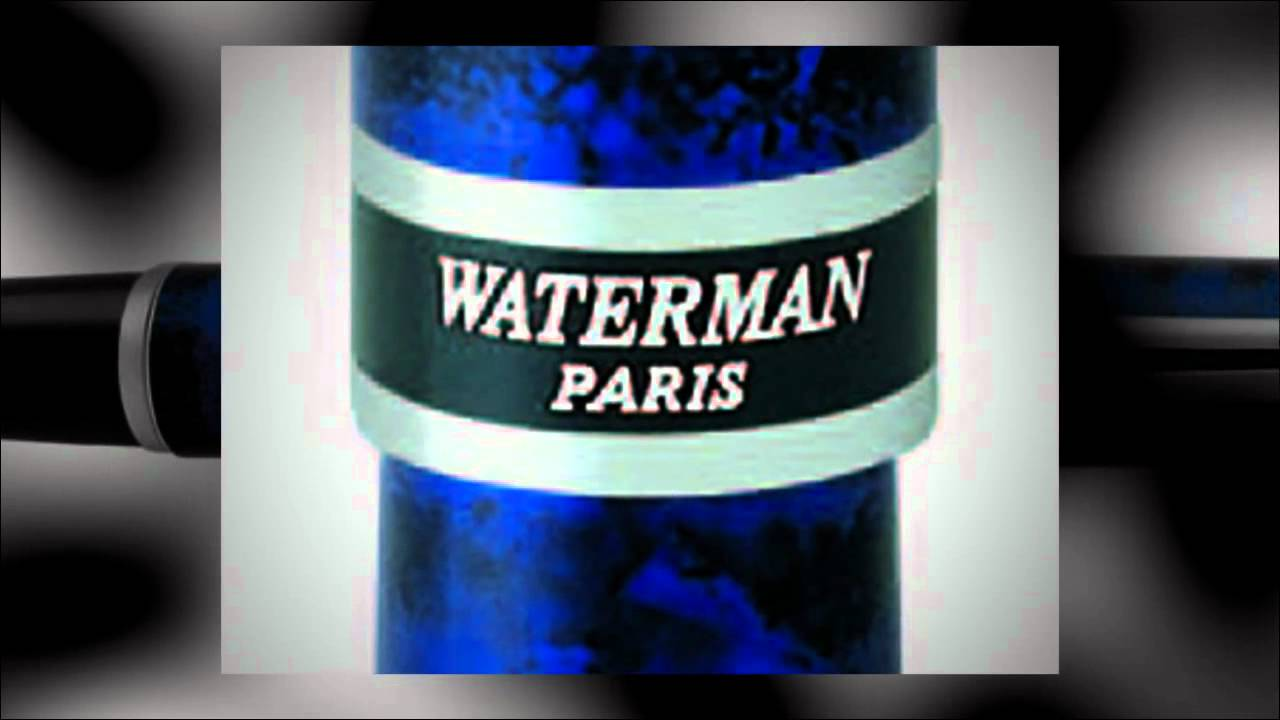 Перьевая ручка Waterman Edson, Sapphire Blue GT - YouTube