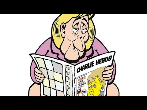 Charlie Hebdo's first German front edition? Merkel on the toilet