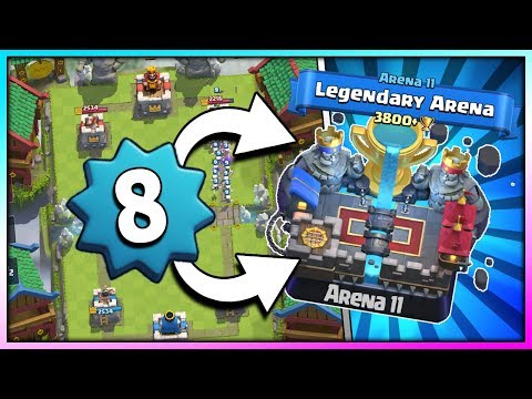 PUSHING TO ARENA 11!! LEVEL 8 - UNDEFEATED DECK!! Clash Royale - Road to Legendary Arena [Ep. 2]
