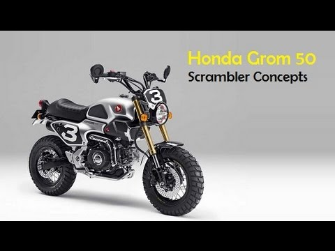 Honda Grom 50 Scrambler Concepts Will Debut At The Tokyo Motor Show