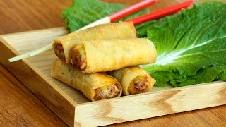 Vegetarian spring rolls recipe / لفات الخضر - CookingWithAlia - Episode 380