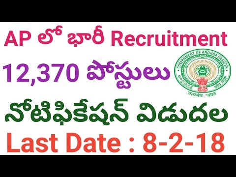 AP 12,370 Posts Recruitment Notification 2017 | Andhra Pradesh Government Jobs