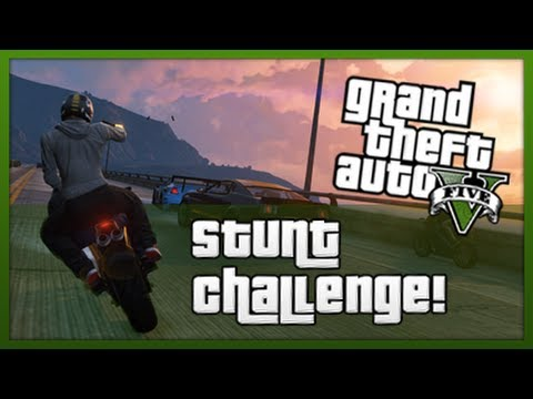 GTA 5: Stunt Challenge! - Episode 1 (GTA V Stunts & Tricks)
