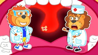 Friend Got Sick and Sore Throats - Learns Healthy Habits for Kids | Lion Family | Cartoon for Kids
