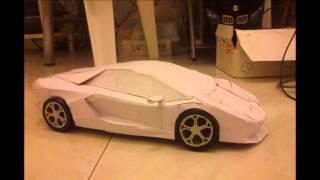 Lamborghini Aventador paper model, Papercraft, Auto di carta