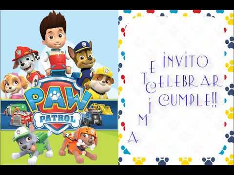 Video Invitacion Animada Paw Patrol Youtube