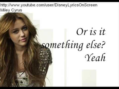 Miley Cyrus - Obsessed (Lyrics On Screen)