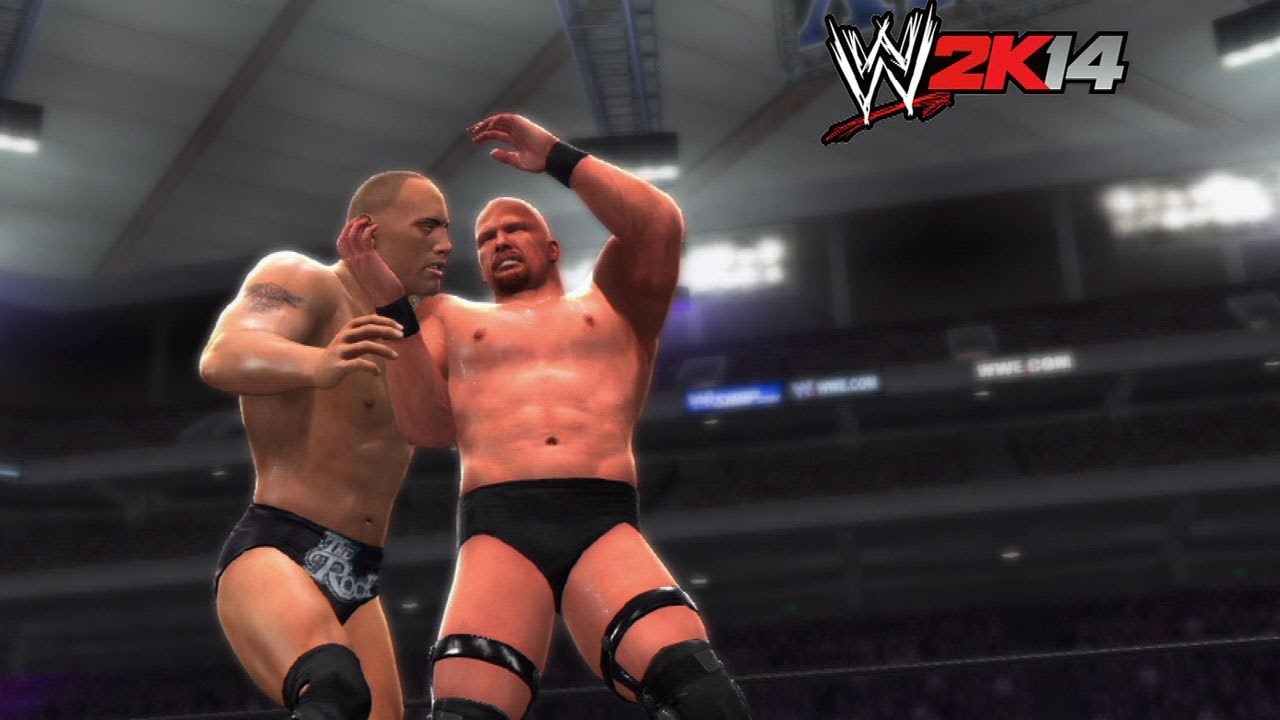 Wwe 2k14 How To Stone Cold Steve Austin Vs The Rock At Wrestlemania 19 Youtube