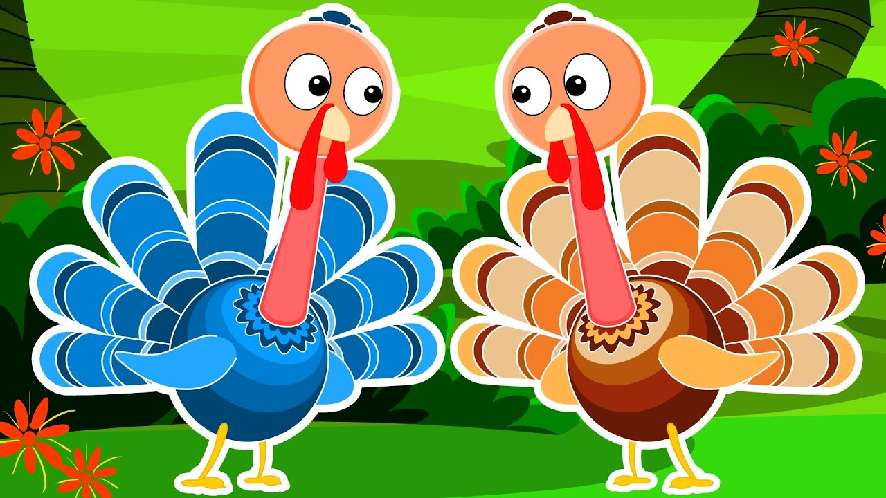 Five Little Turkeys   Turkey Song   Happy Thanks Giving - YouTube