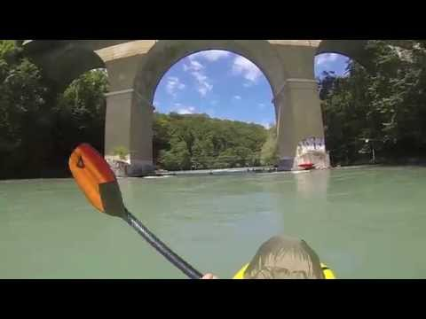 Packrafting The Aare River, Switzerland, June 2013