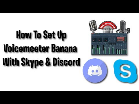 How To Set Up Voicemeeter With Communication Software Skype And Discord