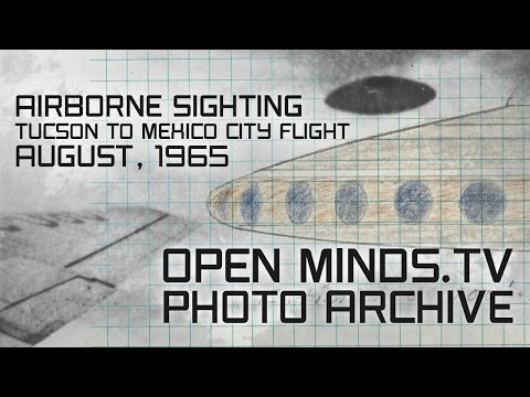 UFO Photographs - Airborne Sighting - Tucson to Mexico City Commercial Flight