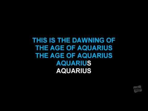 Aquarius in the style of Hair karaoke video (Broadway Version)