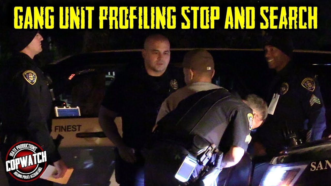 Copwatch   Gang Unit Profiling Vehicle Stop & Search in Driveway