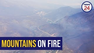 WATCH: Firefighters battle blaze in Franschhoek mountains